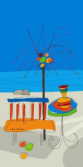 ציור חוף ים מאורך