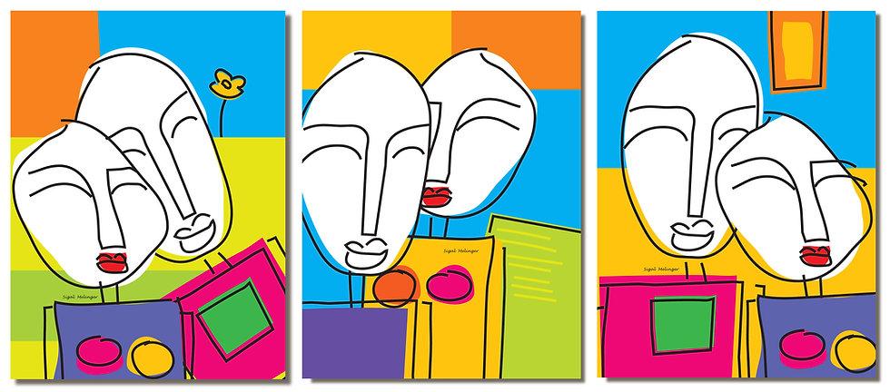 שלושה ציורי זוגות