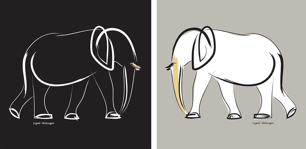 ״פיל שחור + פיל לבן״  2 חלקים
