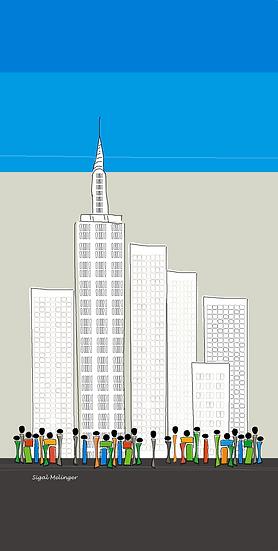 ציור של ניו יורק מאורך