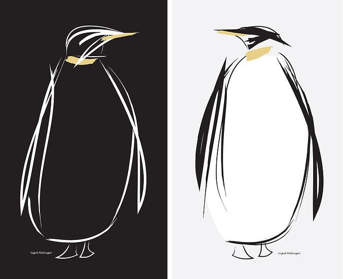 ״פינגווין שחור + פינגווין לבן״  2 חלקים