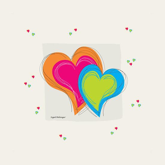 ציור לבבות