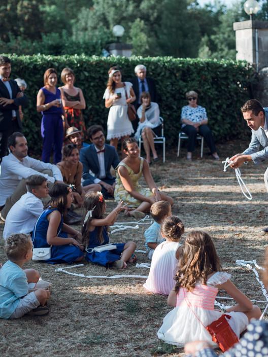 Intervention magie de scène pour mariage