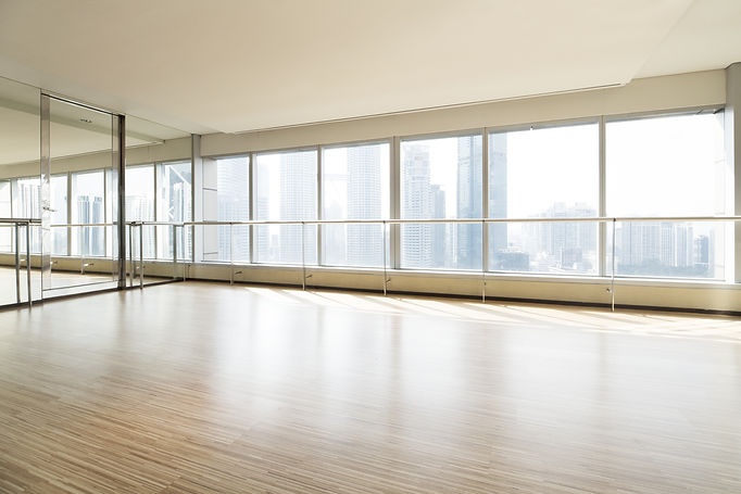 Empty dance studio and cityscape.jpg