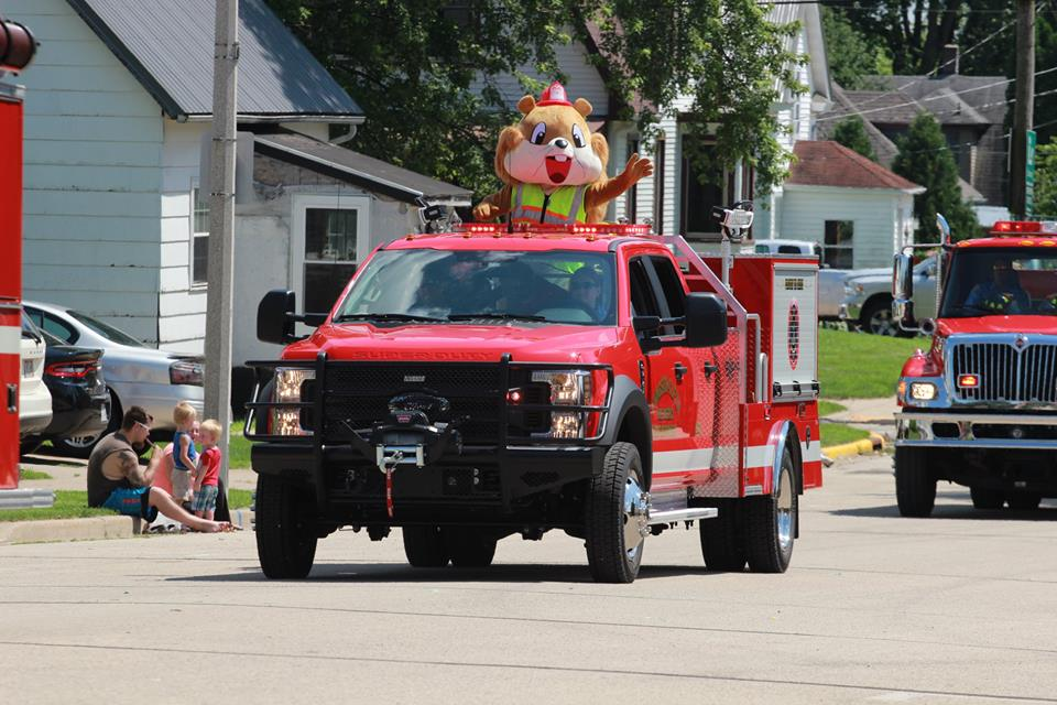 LCFD Parade Float - Squirrel