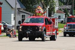 LCFD Parade Float - Squirrel