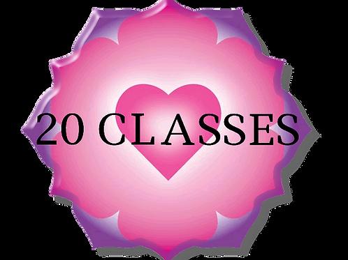 20 Class Anahata Yoga Package