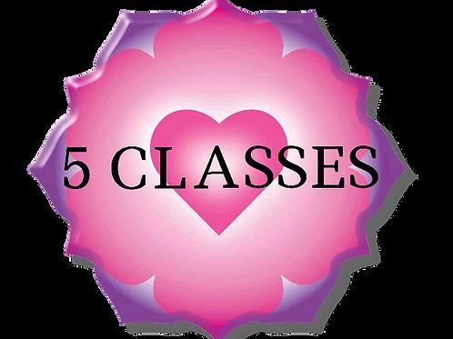 5 Class Anahata Yoga Package
