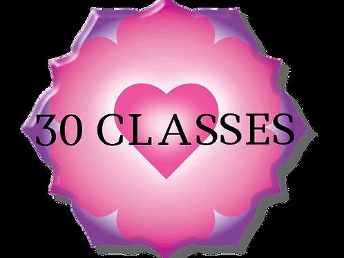 30 Class Anahata Yoga Package
