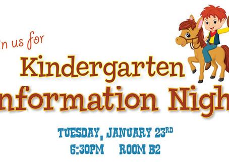 Calling all parents of future Kindergarteners!