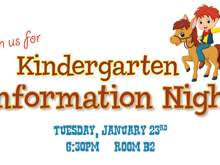 Calling all parents of future Kindergarteners!