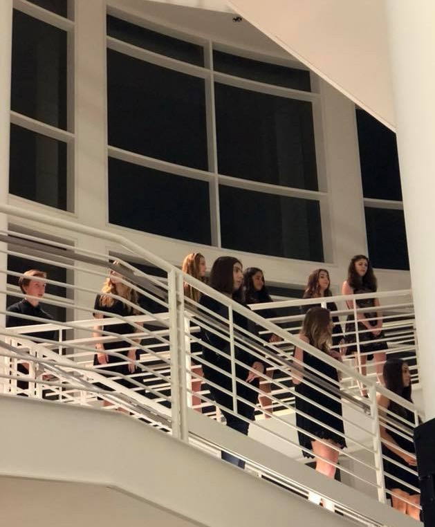 The angelic voices of Salem's Honors Choir fill the room