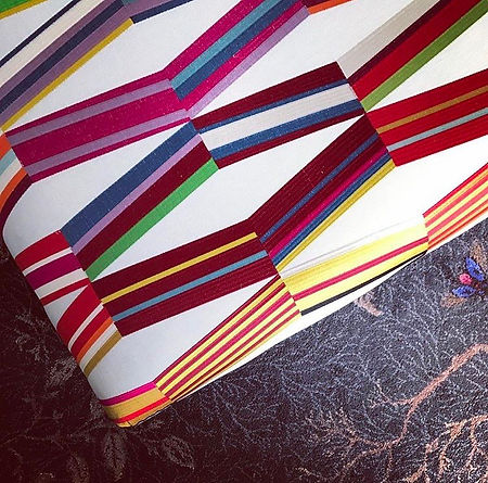 Pierre Frey fabric on Custom made ottoman