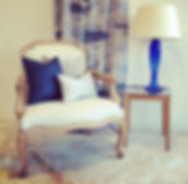 Antique Chair with Custom scatter cushions