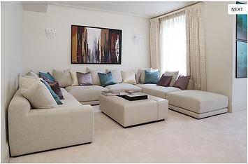 custom made sofa & ottoman
