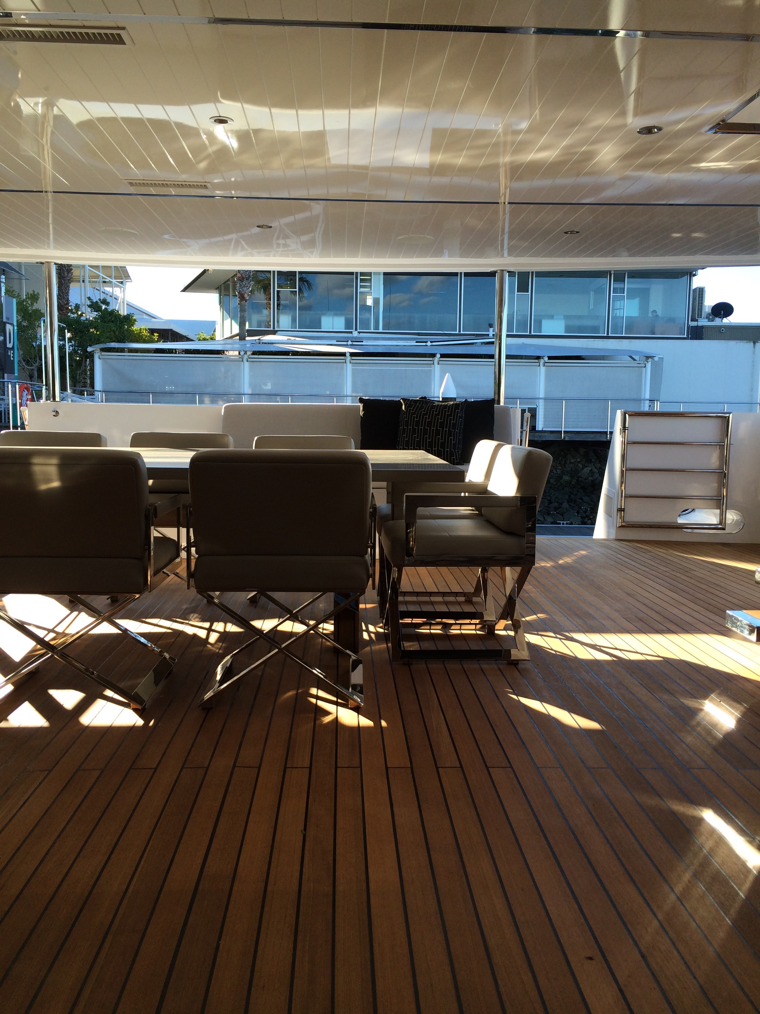 Main outdoor dining deck