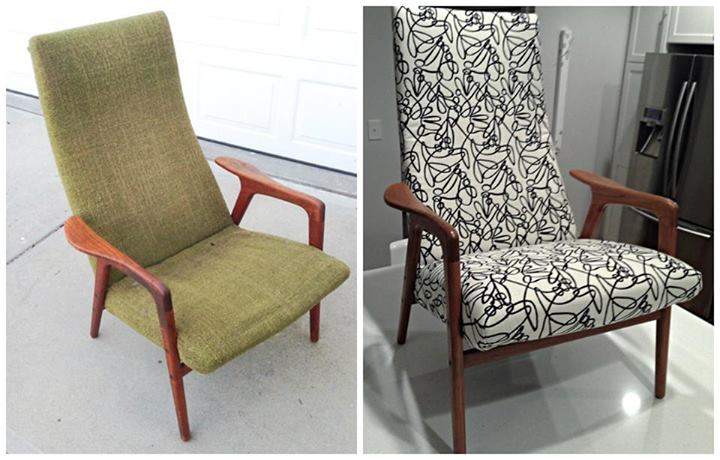 Before & after Upholstery