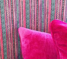 Fluro Pink Velvet cushions, Custom Bedhead