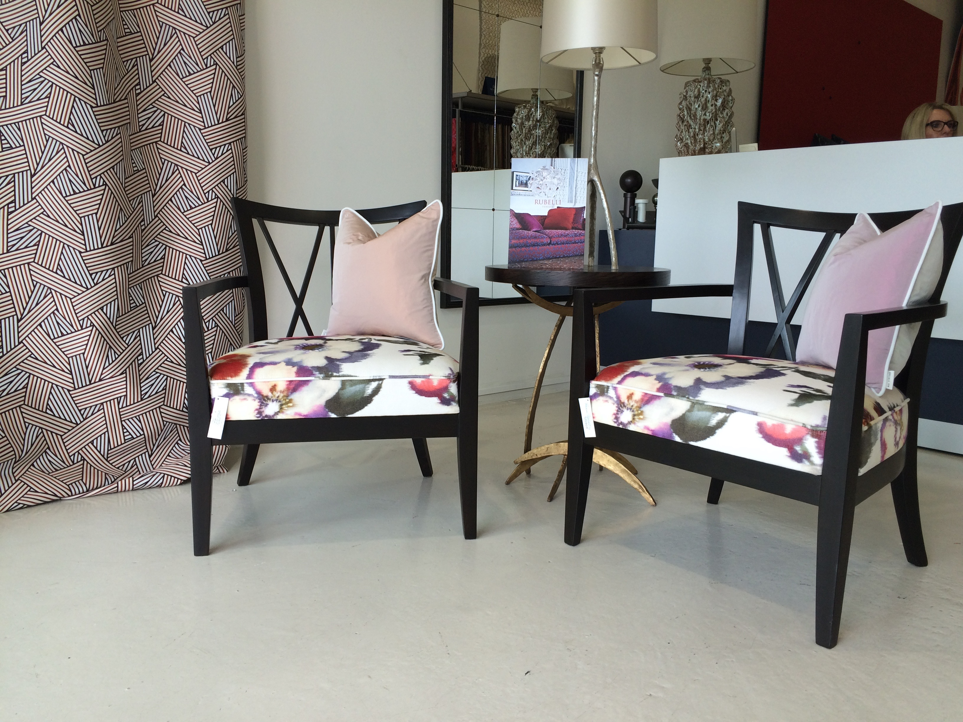 Hour glass chairs - Rubelli Fabric