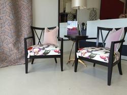 Hour glass chairs - Rubelli Fabric