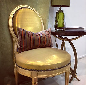 South Pacific fabrics Chair & Rubelli Cushions