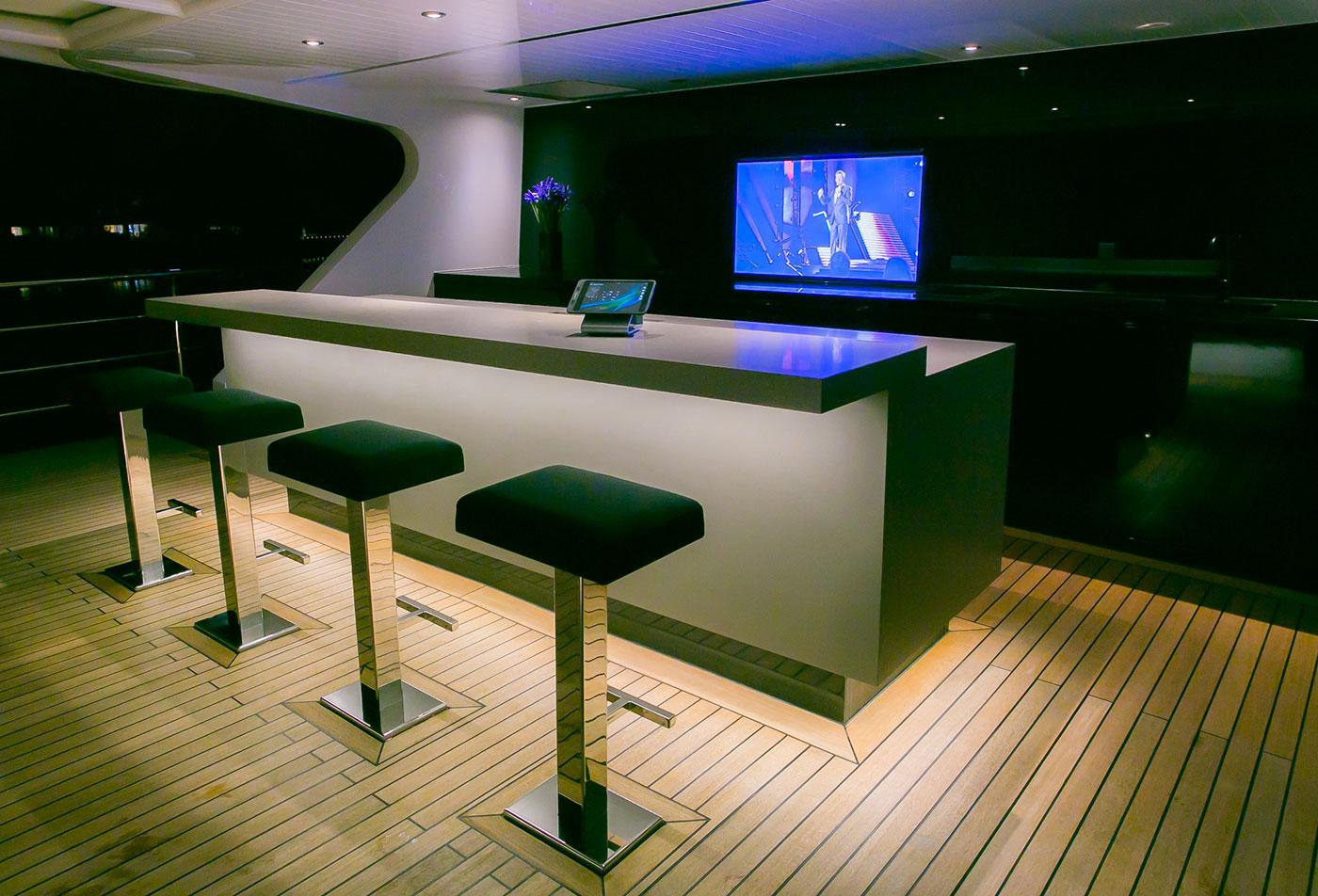 Upper level Bar & entertainment area