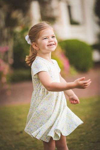 The Proper Peony Garden Floral - Girl Twirl dress