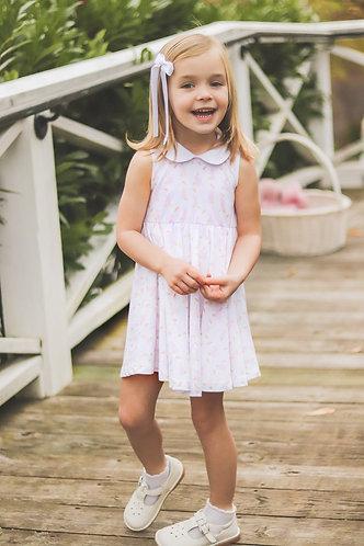 The Proper Peony Pink Bunny - Girl Twirl dress