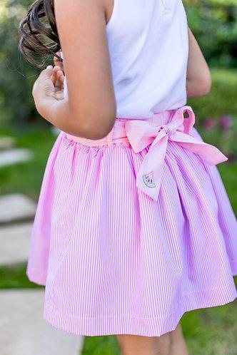 The Proper Peony Watermelon Skirt