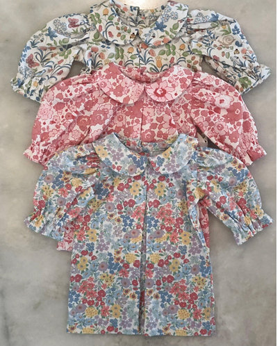 Peggy Green doll dress - libba floral (middle)