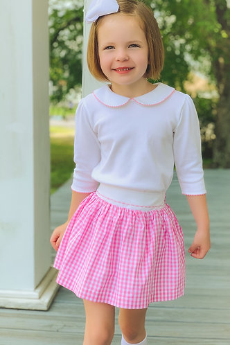 The Proper Peony Pink Gingham Skirt