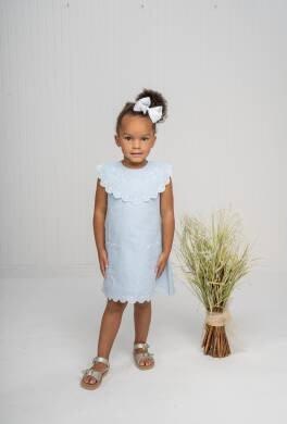 The Oaks Miley Blue Scalloped Dress