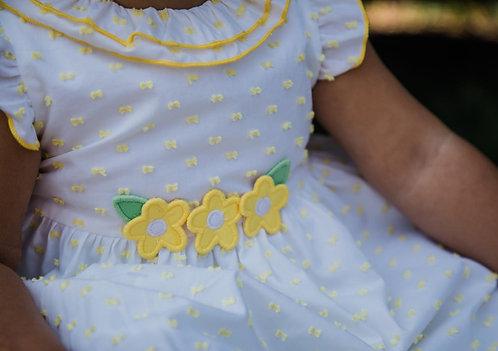 Florence Eiseman Ruffle Collar Swiss Dot Dress