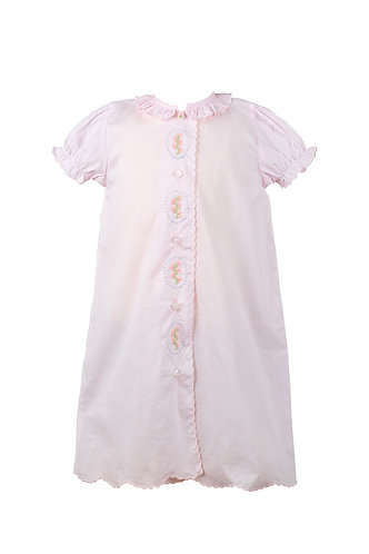 The Proper Peony Lucille Pink Layette Gown