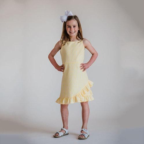 Florence Eiseman - Yellow Check Ruffle Hem Dress