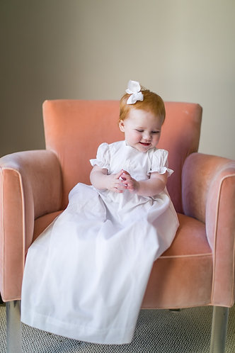 The Proper Peony Cross Baptism Dress