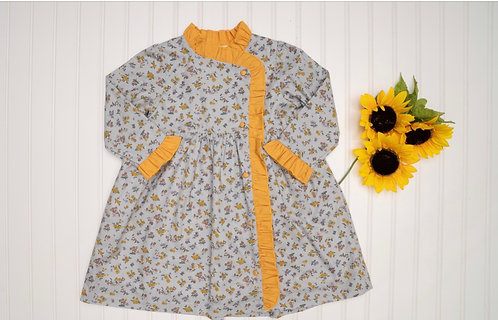 The Oaks Victoria Blue Mustard Dress