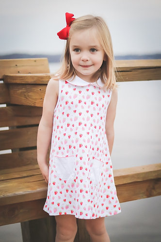 The Proper Peony Strawberries - Girl A-line dress