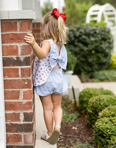 James & Lottie Sailboat Bow Back Bloomer Set