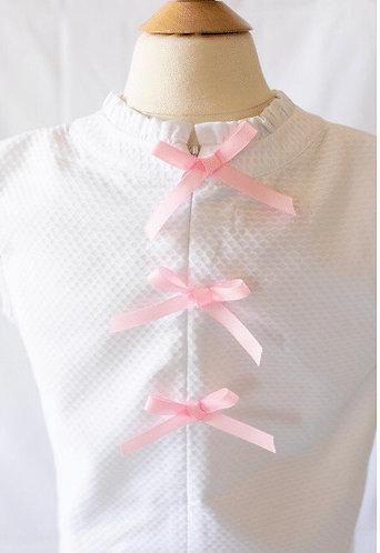 Peggy Green sleeveless tucker top - white pique