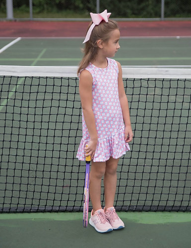 James and Lottie Patterned Tennis Dress
