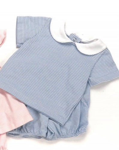 Peggy Green boys knit sun set - blue candy stripe