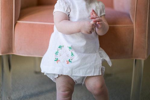 The Proper Peony Clover Bunny Diaper Set White