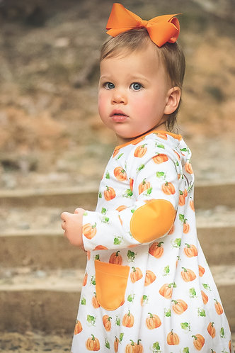 The Proper Peony Parker Pumpkin Aline Dress