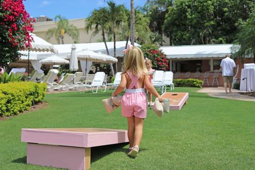 cfbec594e16 Christian Elizabeth Co Flagler Flamingo Playsuit
