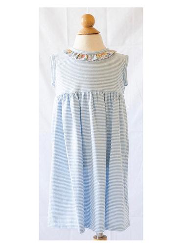 Peggy Green cici dress - blue candy stripe