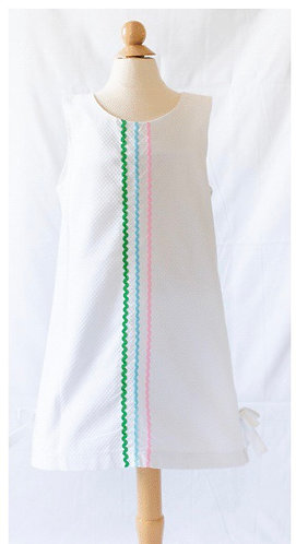 Peggy Green sophie dress - white pique