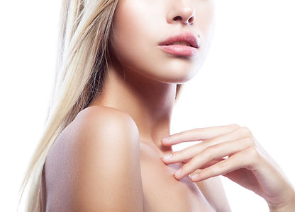 Blonde Women Lips   Enhanced Beauty Aesthetics