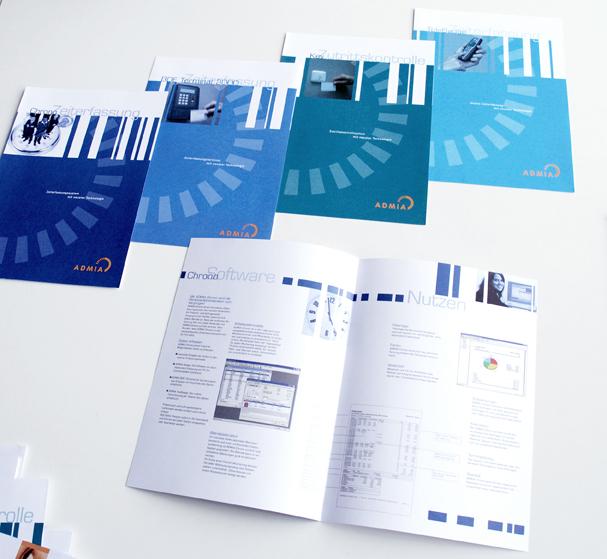 Produkt Broschüren CI Auftritt 2003