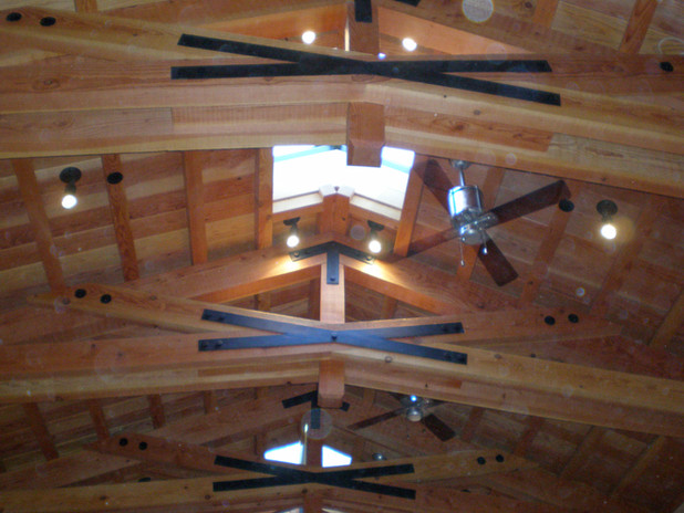 Exposed Beam Ceiling - Lights and Fans